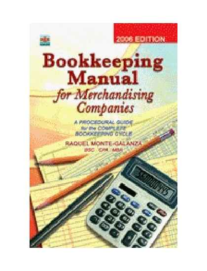 Bookkeeping Manual for Merchandising Companies